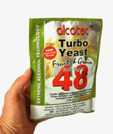ALCOTEC Turbohefe 48H ❁ Spezial Frucht & Korn ❁ 14% in 36 Stunden ❁ 20% in 4 Tagen - 1