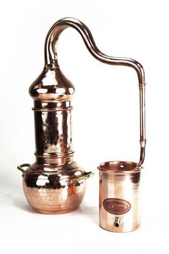 """""""CopperGarden®"""" Destille ✿ Kolonnenbrennerei 0,5 Liter ✿ völlig legale Schnapsbrennerei ✿ Ideal auch zur Herstellung von Hydrolaten und ätherischen Ölen - 1"""