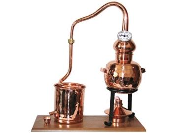 """Dr. Richter Destillieranlage """"Alambic Classico mit Thermometer"""" (0,5 Liter). Mit dieser Destille aus massivem Kupfer können Sie legal Schnapsbrennen. - 1"""