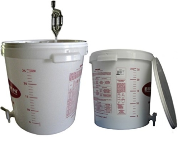 Gärbehälter Gäreimer 30L für Bier oder Wein mit Ablasshahn und Gärröhrchen kostenlose Lieferung - 1