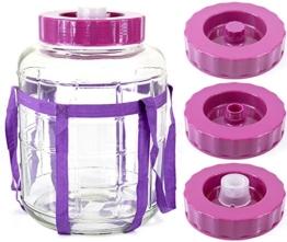 Universelles Glas Weinballon mit Gärsystem Glasballon Einmachtopf 12 L - 1