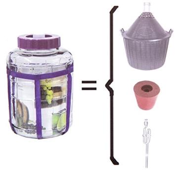 Universelles Glas Weinballon mit Gärsystem Glasballon Einmachtopf 12 L - 2