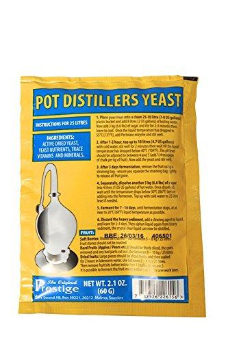 Prestige Turbohefe – Pot Distillers Brennereihefe – für 25 Liter feine Obstmaische -
