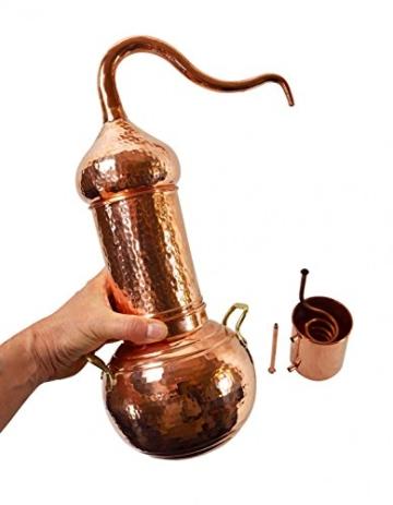 Copper Garden Destille Essence 2 Liter mit Kolonne ❁ Legal in DE, at, IT, CH ❁ Heimbrennerei für Hydrolate und ätherische Öle - 2