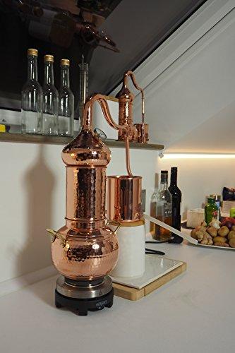Copper Garden Destille Essence 2 Liter mit Kolonne ❁ Legal in DE, at, IT, CH ❁ Heimbrennerei für Hydrolate und ätherische Öle - 4