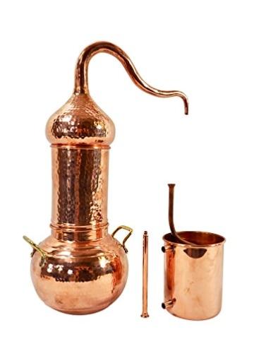 Copper Garden Destille Essence 2 Liter mit Kolonne ❁ Legal in DE, at, IT, CH ❁ Heimbrennerei für Hydrolate und ätherische Öle - 6
