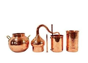 Copper Garden Destille Essence 2 Liter mit Kolonne ❁ Legal in DE, at, IT, CH ❁ Heimbrennerei für Hydrolate und ätherische Öle - 8