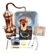 Copper Garden Destille Essence Plus ❁ 2 Liter Kolonnenbrennerei ❁ Legal in DE, at, CH ❁Sorgenfrei Vollausstattung für Neueinsteiger - 1