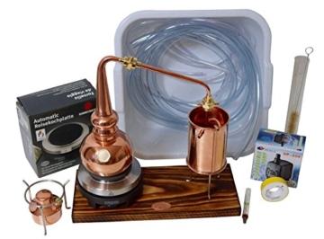 Copper Garden legale Whisky Destille ✿ 0,5 Liter Supreme Electric ✿ Komplettes Set mit Allem Zubehör - 1