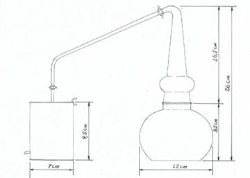 Copper Garden legale Whisky Destille ✿ 0,5 Liter Supreme Electric ✿ Komplettes Set mit Allem Zubehör - 9