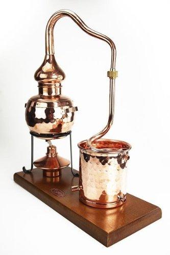CopperGarden® Destillieranlage Alembik 0,5 Liter mit Spiritusbrenner ❀ Volle Funktion zum Schnapsbrennen ❀ Legal Whisky, Brandy und Obstschnaps selbermachen ❀ das perfekte Weihnachtsgeschenk - 2