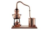 CopperGarden® Destillieranlage Alembik 0,5 Liter mit Spiritusbrenner ❀ Volle Funktion zum Schnapsbrennen ❀ Legal Whisky, Brandy und Obstschnaps selbermachen ❀ das perfekte Weihnachtsgeschenk - 1