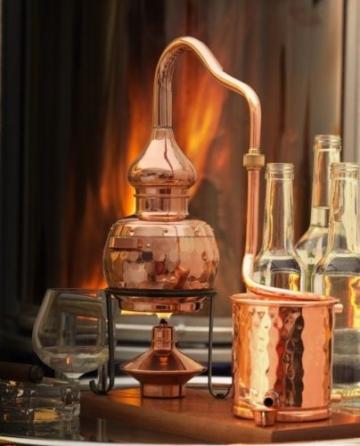 CopperGarden® Destillieranlage Alembik 0,5 Liter mit Spiritusbrenner ❀ Volle Funktion zum Schnapsbrennen ❀ Legal Whisky, Brandy und Obstschnaps selbermachen ❀ das perfekte Weihnachtsgeschenk - 3