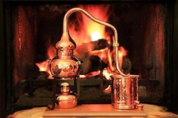 CopperGarden® Destillieranlage Alembik 0,5 Liter mit Spiritusbrenner ❀ Volle Funktion zum Schnapsbrennen ❀ Legal Whisky, Brandy und Obstschnaps selbermachen ❀ das perfekte Weihnachtsgeschenk - 4