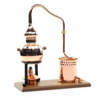 CopperGarden® Destillieranlage Alembik 0,5 Liter mit Spiritusbrenner ❀ Volle Funktion zum Schnapsbrennen ❀ Legal Whisky, Brandy und Obstschnaps selbermachen ❀ das perfekte Weihnachtsgeschenk - 5