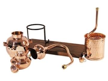CopperGarden® Destillieranlage Alembik 0,5 Liter mit Spiritusbrenner ❀ Volle Funktion zum Schnapsbrennen ❀ Legal Whisky, Brandy und Obstschnaps selbermachen ❀ das perfekte Weihnachtsgeschenk - 7