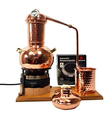 'CopperGarden' Destillieranlage Arabia 2 Liter ❁ Elektrisch 500 Watt ❁ Mit Aromasieb ❁ neues Model 2018 ❁ jetzt meldefrei und legal in DE, AT, CH - 2