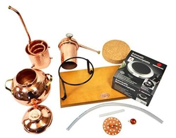 'CopperGarden' Destillieranlage Arabia 2 Liter ❁ Elektrisch 500 Watt ❁ Mit Aromasieb ❁ neues Model 2018 ❁ jetzt meldefrei und legal in DE, AT, CH - 3