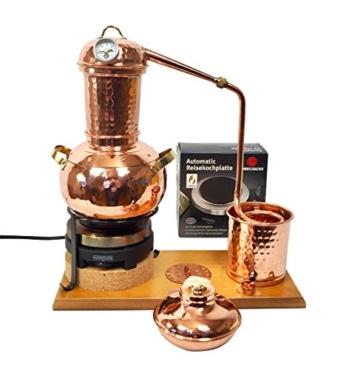 'CopperGarden' Destillieranlage Arabia 2 Liter ❁ Elektrisch 500 Watt ❁ Mit Aromasieb ❁ neues Model 2018 ❁ jetzt meldefrei und legal in DE, AT, CH - 1