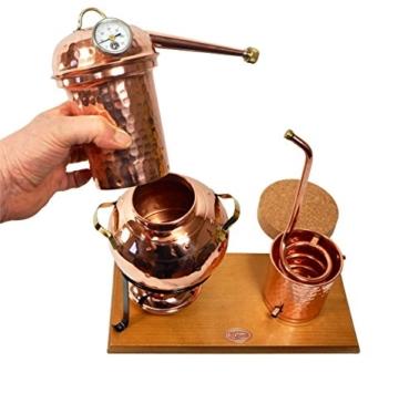 'CopperGarden' Destillieranlage Arabia 2 Liter ❁ Elektrisch 500 Watt ❁ Mit Aromasieb ❁ neues Model 2018 ❁ jetzt meldefrei und legal in DE, AT, CH - 8