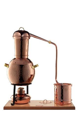 'CopperGarden' Tischdestille Arabia 2 Liter ❁ mit Spiritusbrenner & Aromasieb ❁ neues Modell 2018 ❁ meldefrei in Deutschland, Österreich und Schweiz - 2