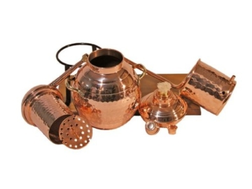 'CopperGarden' Tischdestille Arabia 2 Liter ❁ mit Spiritusbrenner & Aromasieb ❁ neues Modell 2018 ❁ meldefrei in Deutschland, Österreich und Schweiz - 3