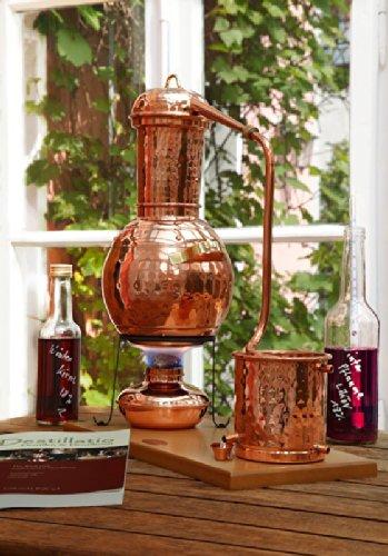'CopperGarden' Tischdestille Arabia 2 Liter ❁ mit Spiritusbrenner & Aromasieb ❁ neues Modell 2018 ❁ meldefrei in Deutschland, Österreich und Schweiz - 4