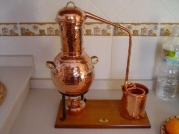 'CopperGarden' Tischdestille Arabia 2 Liter ❁ mit Spiritusbrenner & Aromasieb ❁ neues Modell 2018 ❁ meldefrei in Deutschland, Österreich und Schweiz - 6