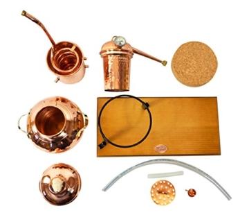 'CopperGarden' Tischdestille Arabia 2 Liter ❁ mit Spiritusbrenner & Aromasieb ❁ neues Modell 2018 ❁ meldefrei in Deutschland, Österreich und Schweiz - 8