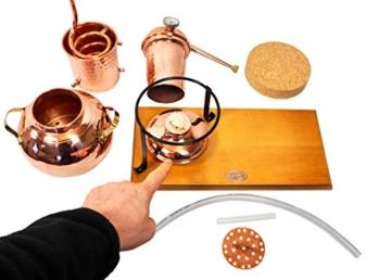 'CopperGarden' Tischdestille Arabia 2 Liter ❁ mit Spiritusbrenner & Aromasieb ❁ neues Modell 2018 ❁ meldefrei in Deutschland, Österreich und Schweiz - 9