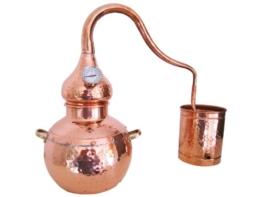 Destille Alambic Classico aus Kupfer 2L mit Thermometer (anmeldefrei) - 1