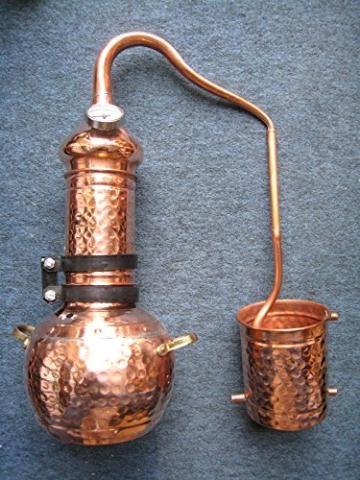 Dr. Richter 2 Liter Destille aus Kupfer mit Kolonne und Thermometer - ätherische Öle 2L (anmedefrei) - 2