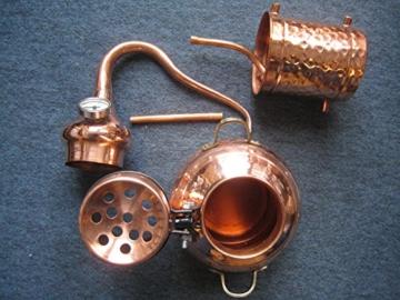 Dr. Richter 2 Liter Destille aus Kupfer mit Kolonne und Thermometer - ätherische Öle 2L (anmedefrei) - 3