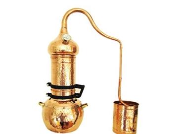 Dr. Richter 2 Liter Destille aus Kupfer mit Kolonne und Thermometer - ätherische Öle 2L (anmedefrei) - 1