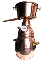 Dr. Richter® Destille 2 Liter Alquitara Premium (3 Siebe) für ätherische Öle / Hydrolate (anmeldefrei) 2L - 1