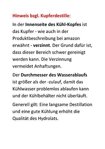 Dr. Richter® Destille 2 Liter Alquitara Premium (3 Siebe) für ätherische Öle / Hydrolate (anmeldefrei) 2L - 5