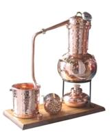 """Dr. Richter® Destille 2 Liter Modell """"Kalif"""" mit Aromakorb, Thermometer und Spiritusbrenner (aktuelles Modell; Premiumedition) Aromaöl Wasser - 1"""
