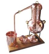 Dr. Richter Destille 2 Liter Modell Kalif mit Aromakorb und Spiritusbrenner (aktuelles Modell; Premiumedition) Aromaöl Wasser - 1