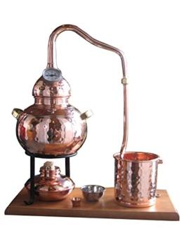 Dr. Richter Destillieranlage Alambic Classico mit Thermometer (2 Liter). Destille für Wasserdestillation/Pflanzenwasser - 1